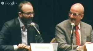 Speakers at town hall meeting on saving the San Diego Opera. Image from YouTube
