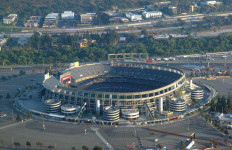Qualcomm Stadium, current home of the San Diego Chargers. Photo courtesy Wikimedia Commons
