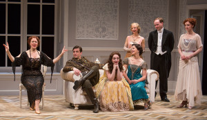 The cast of J.B. Priestley's Time and the Conways at The Old Globe. Photo by Jim Cox
