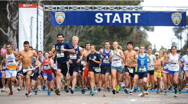 The Triton 5K run at UC San Diego. Photo courtesy the university
