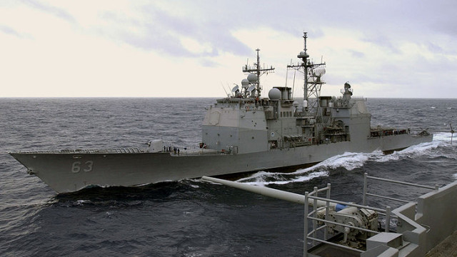 USS Cowpens is a guided missile cruiser, ported at Naval Base San Diego. Photo courtesy Wikimedia Commons