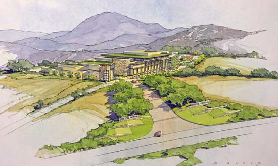 A rendering of the $360 casino complex planned for Jamul that is under construction. Photo credit: 500nations.com