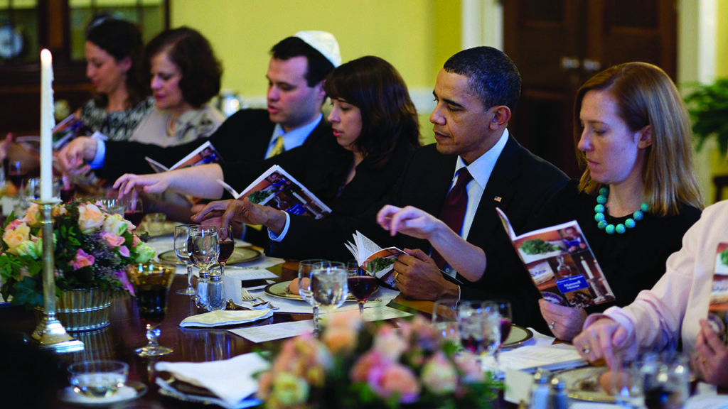 President Obama celebrates Passover with a Seder at the White House in 2013. White House photo
