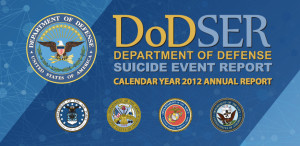 Cover page for 2012 Pentagon suicide report.