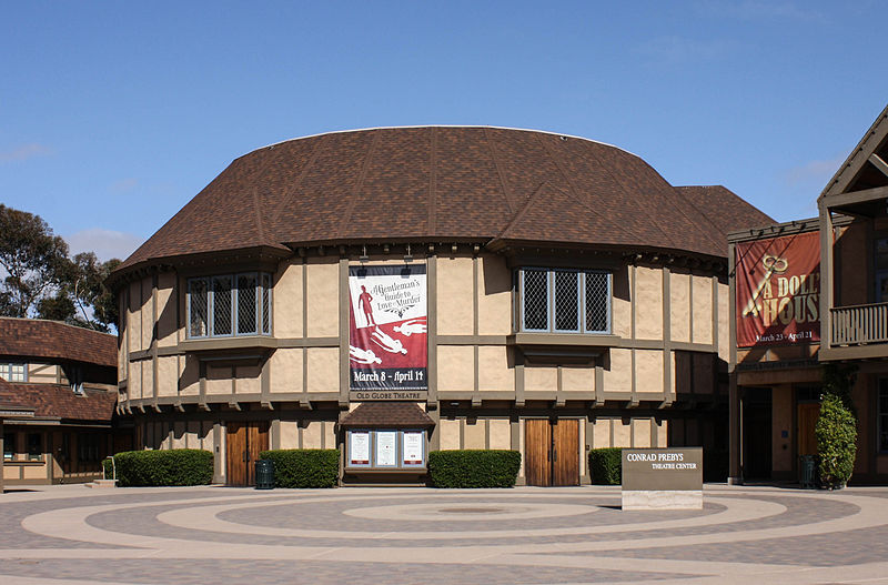 The Old Globe theater in Balboa Park.
