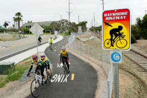Project would connect to Bayshore Bikeway.  Photo via sandag.org