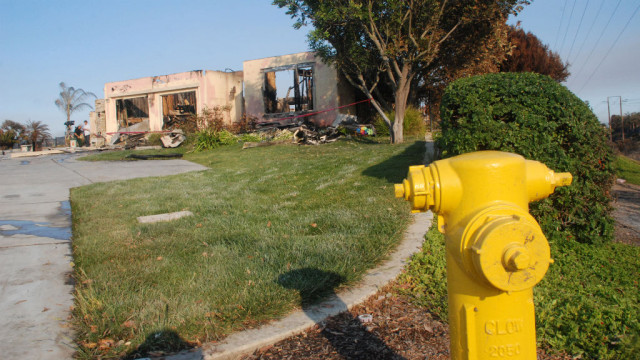 Proximity to hydrant wasn't enough to save house on Black Rail Road Wednesday night in Carlsbad.