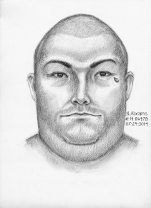 Escondido police released a composite sketch of a man they are looking for  in connection to an attack on an employee at the LA Fitness gym. Photo credit: Escondido Police Department.