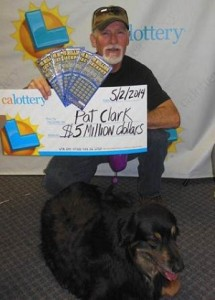 Pat Clark hit the jackpot with a $5 million winning scratcher ticket from the California Lottery. Photo courtesy of the California Lottery.
