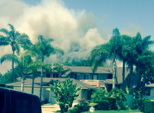 A 10News reporter tweeted this image of the Carlsbad fire.