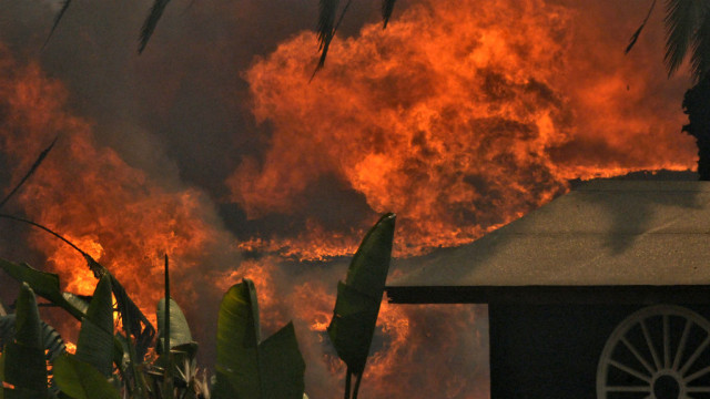 A view of the Cocos Fire on the afternoon of May 15. Photo by Chris Stone