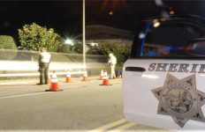 Sheriff's Department DUI checkpoint. Image courtesy San Diego Sheriff