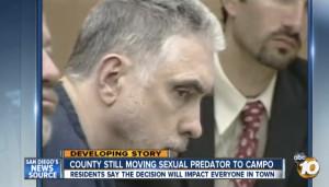 Douglas Badger, convicted violent sex predator. Image from 10News via YouTube