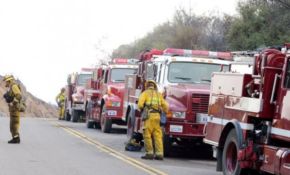 Firefighters. Photo courtesy San Diego county.