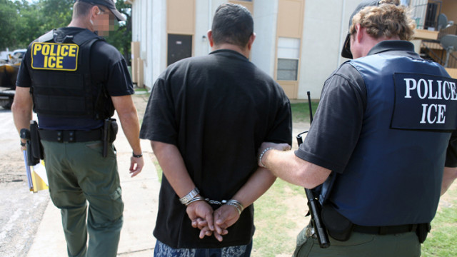 Immigration enforcement operation by U.S. Immigration and Customs Enforcement. Photo courtesy ICE
