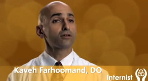Kaveh Farhoomand in Tri-City Medical Center video. Image via YouTube