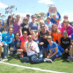 Boston Marathon winner Meb Keflezighi posed with members of the running-fit San Diego Track Club. Photo by Chris Stone
