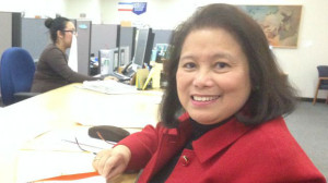 Mitz Lee files papers for City Council race. Campaign photo