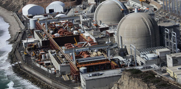 The San Onofre Nuclear Generating Station, shut down since 2012 and now being decommissioned. Photo courtesy Southern California Edison