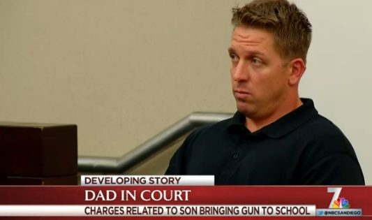 Zachariah J. Dow, who has pleaded guilty following son's gun incident at Hilltop High. Photo credit: NBCSanDiego.com