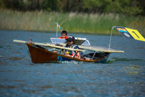 A Solar Cup boat from the 2013 races. Photo courtesy Metropolitan Water District