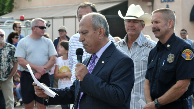 Escondido Mayor Sam Abed at a community event in 2014. Photo by Chris Stone