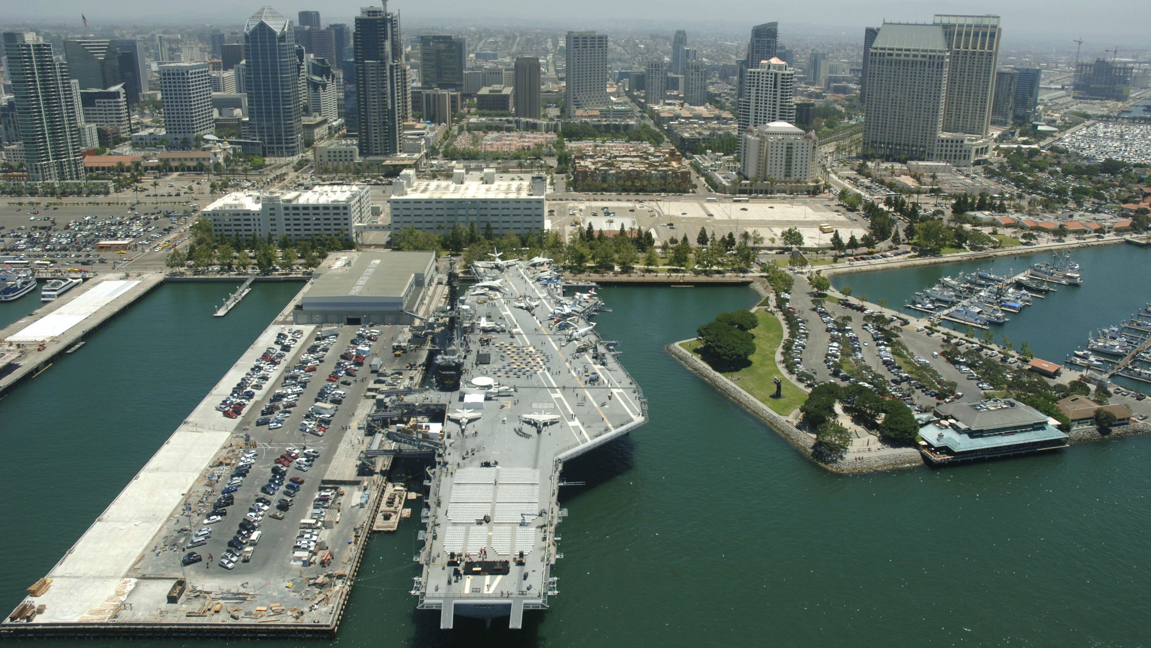 USS Midway Pays Tribute to Military with Ceremony, Flyover and ...