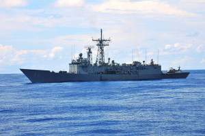 The guided-missile frigate USS Rentz (FFG 46). Navy photo