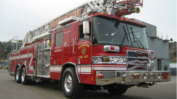 A Oceanside Fire Department vehicle. Courtesy City of Oceanside