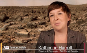 "CCdd Artistic Director Katherine Harroff wrote ""Red Planet Respite,"" a sci-fi play. Photo via Vimeo"