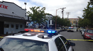 Scene after April 25 North Park dispensary shooting. Photo credit: Fox5SanDiego.com