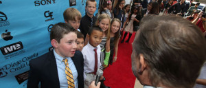 Student filmmakers walk the red carpet at the annual iVIE student video awards. Photo courtesy of the San Diego County Office of Education.