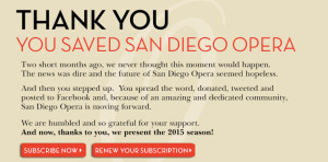 Note posted on San Diego Opera website. sdopera.com