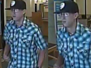 Surveillance images show the man suspected of robbing a Citibank branch in Vista.
