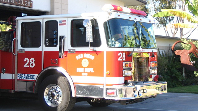San Diego Fire Department Engine 28. Courtesy of San Diego Fire-Rescue