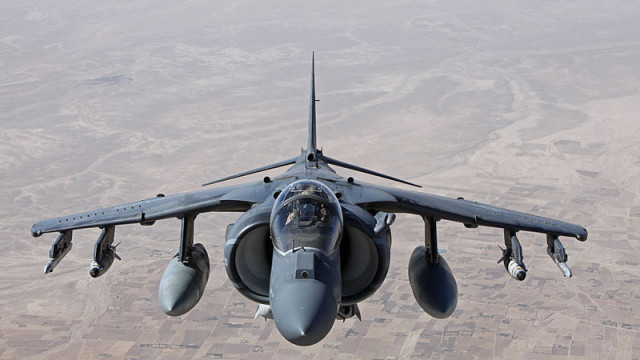 A Marine Corps AV-8B Harrier jet. Photo courtesy Marines Corps
