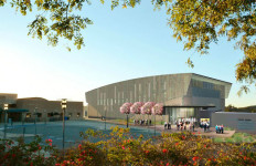 Artist's rendering of planned sports arena at Cal State San Marcos. Image courtesy CSUSM