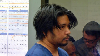 Carlo Mercado, in court; he's suspected in the shooting deaths of three young people in December and January 2014. Photo credit: NBCSanDiego.com