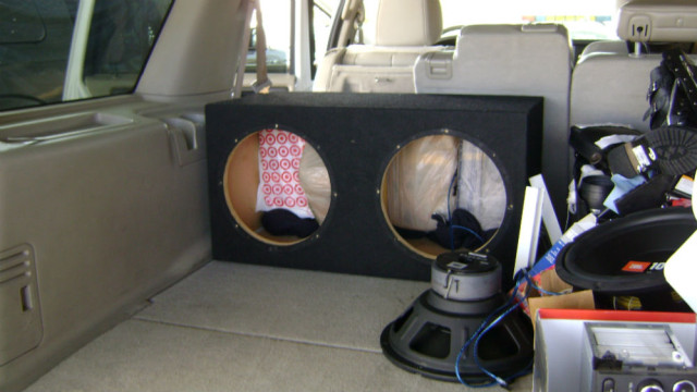 Agents discovered four bundles of cocaine hidden inside a speaker box. Border Patrol photo