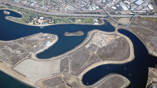 Aerial view of Fiesta Island