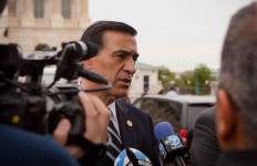 Rep. Darrell Issa speaks to reporters in Washington. Photo courtesy Issa's office