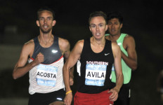 Avila wore the uniform of Southern Oregon University, where he was the 2013 NAIA cross country champion.