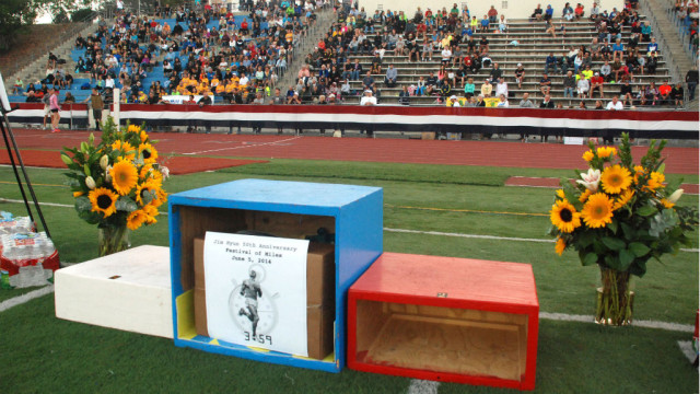 Every race featured an awards ceremony in front of the west stands at Balboa Stadium. Photo by Chris Stone