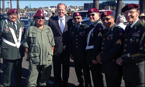 San Diego Mayor Kevin Faulconer with military veterans via San Diego Mayor's office.