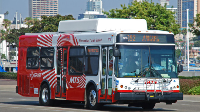 A San Diego Metropolitan Transit System bus. Photo courtesy MTS