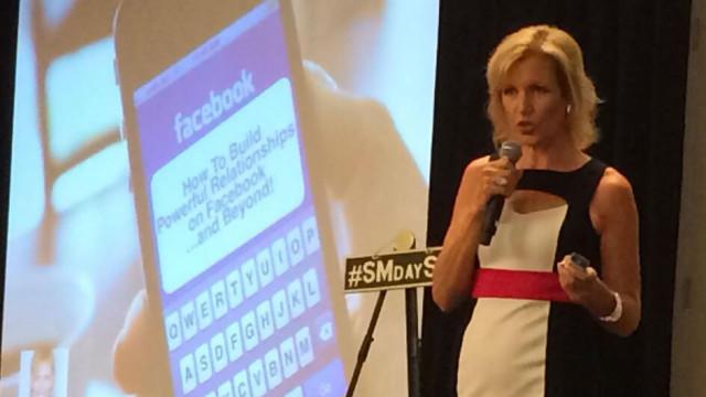 Mari Smith speaks to Social Media Day San Diego 2014. Photo by Laura Rubinstein of http://www.socialmediablastoff.com/ via Twitter