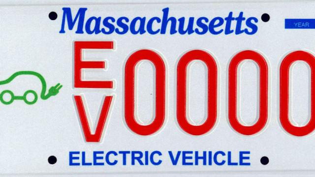 Massachusetts EV Plate