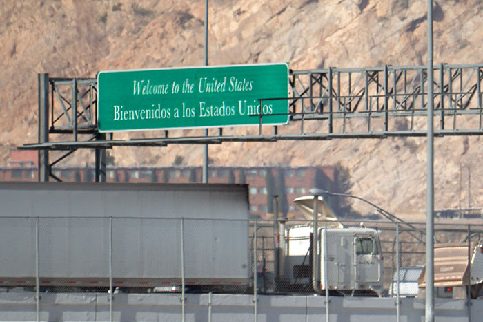 Truck at Otay Mesa border crossing. Photo courtesy Texas A&M Transportation Institute