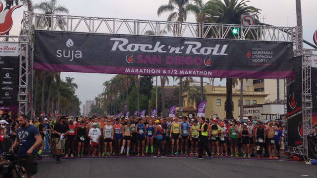The 2014 Rock 'n' Roll Marathon ready to start. Photo courtesy Rock 'n' Roll Marathon via Facebook