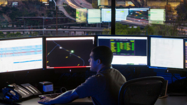 San Diego Gas & Electric's high-security Mission Control Center overlooking Interstate 805. SDG&E photo